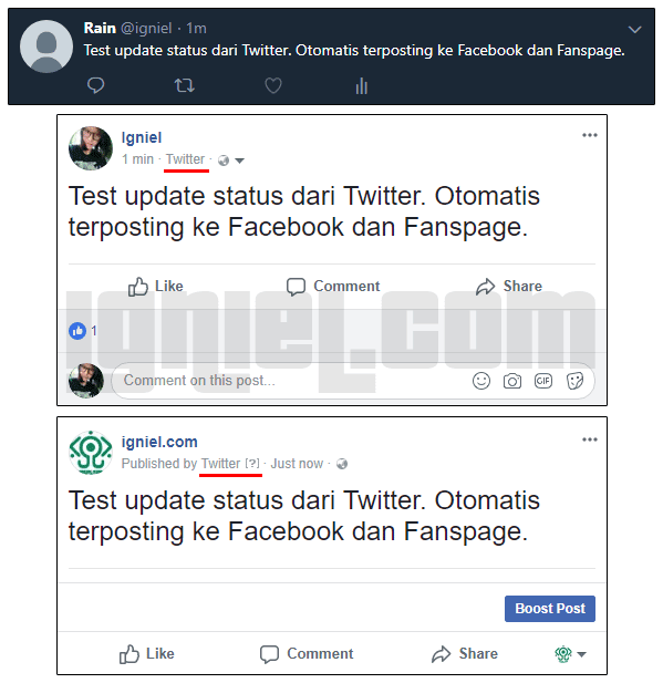 Cara Membagikan Tweet Twitter Otomatis Ke Facebook Fanspage