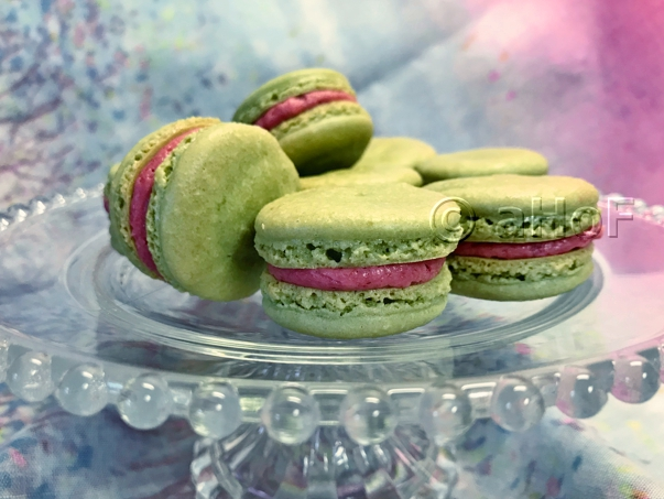 Successful Matcha Macarons with Raspberry Filling