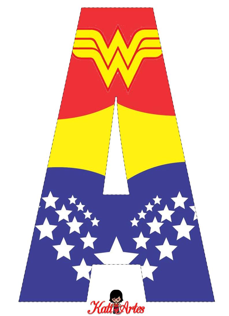 Alfabeto Gratis de la Mujer Maravilla. | Oh my Alfabetos!