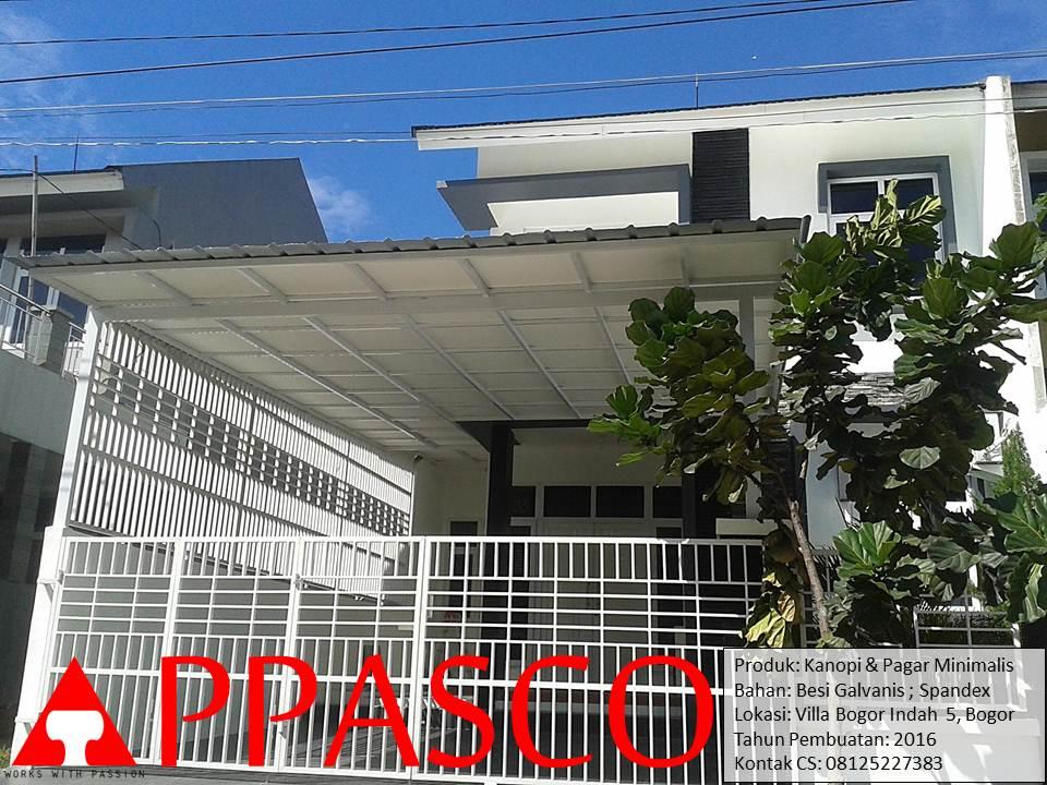 Kanopi Spandex dan Pagar Minimalis di Villa Bogor Indah
