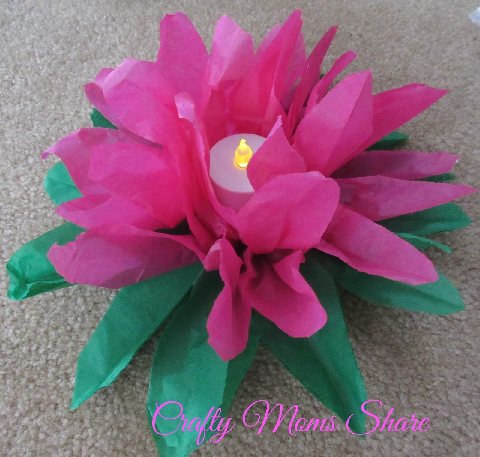 Crafty moms share crafty weekends paper pom poms other party we played with some of the flowers we started with the water lilies ours do not float since i did not get waxed tissue paper but i also knew we wouldnt mightylinksfo