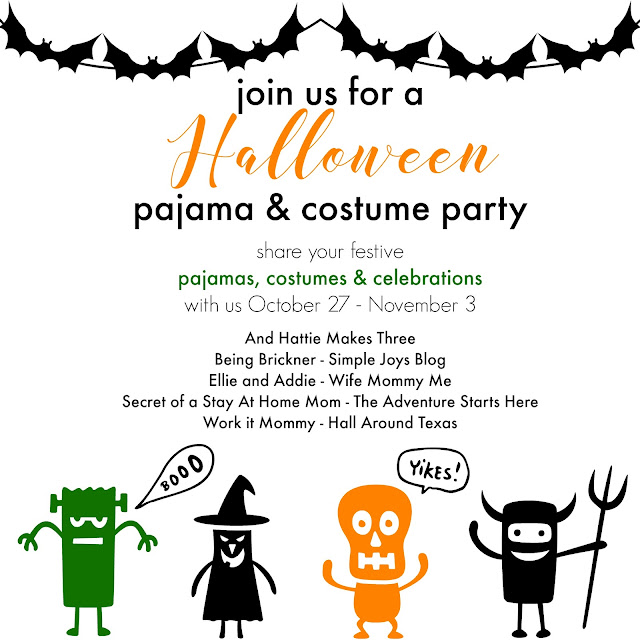 Halloween pajama and costume party