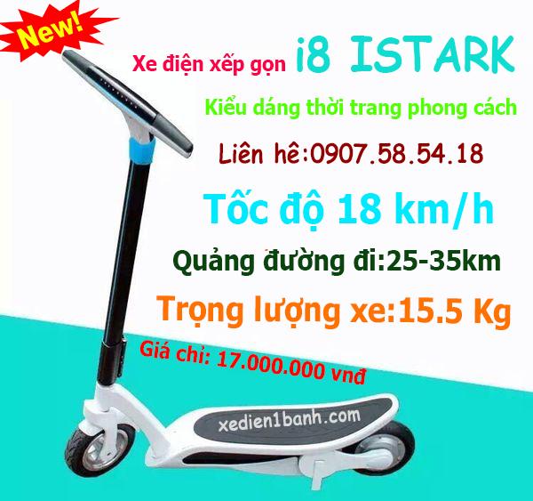 xe điện 2 bánh scooter i8 istark