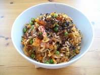 vegan essen in Wien -Veganer Reis mit Gemüse - Indonesien (veganes Rezept für 2 Personen) - hautpspeise