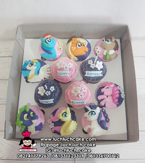 Cupcake Fondant 2d My Little Pony