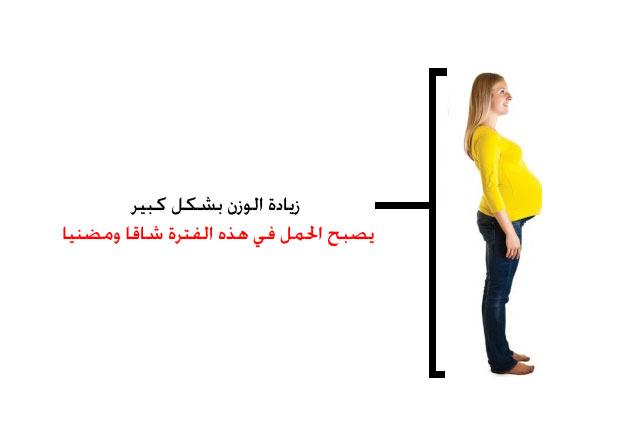 جسم المرأة الحامل