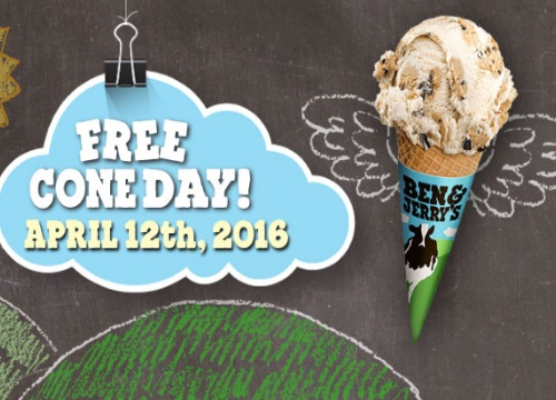 Ben & Jerry's Free Ice Cream Cone Day