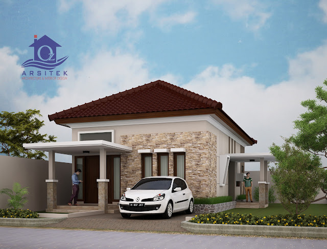 Desain Eksterior Rumah Bapak Seno di Semarang