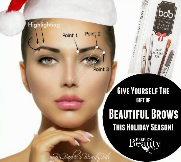 Give yourself the gift of beautiful Brows this season, by Barbies Beauty Bits and Billion Dollar Brows