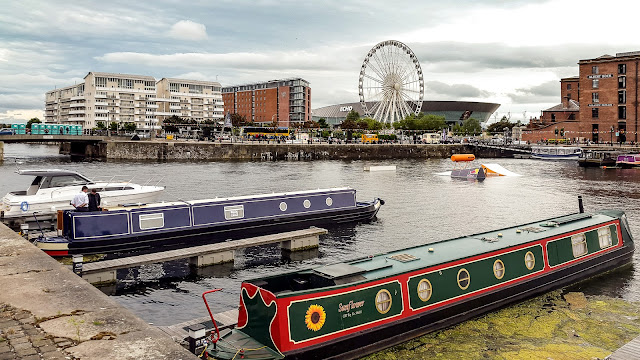 Photo of some of the narrowboats on show at the event