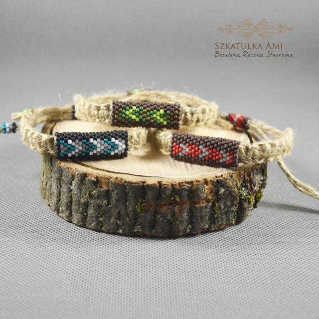 Naturalny sznurek w biżuterii c.d.