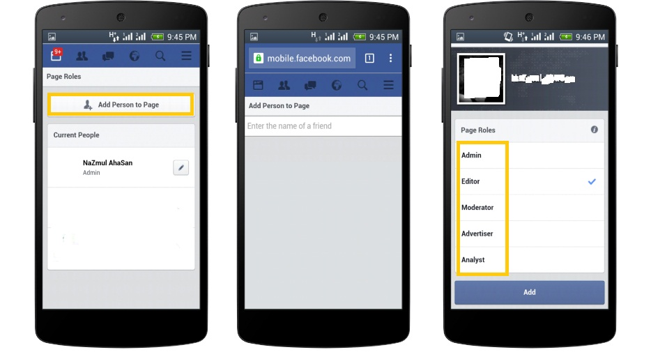 how to create a page on facebook via mobile
