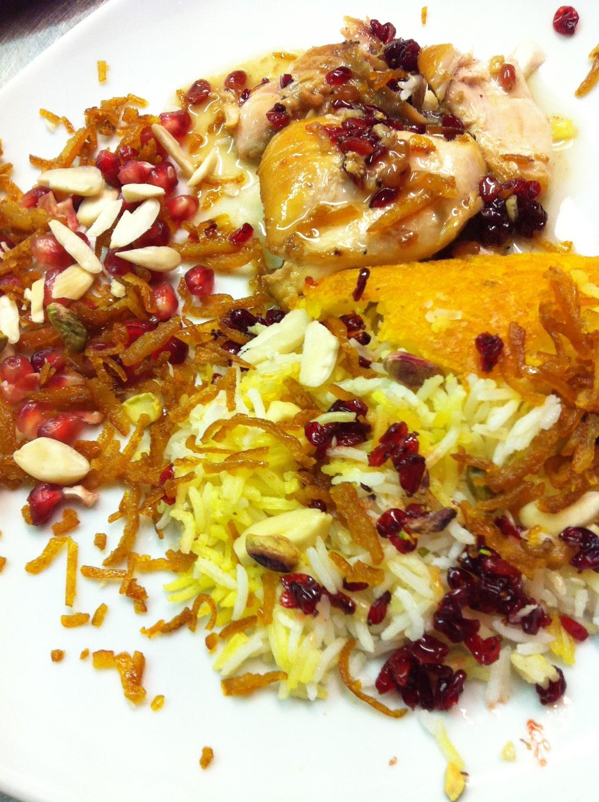 La mia cucina persiana: La Mia Cena Persiana con Melograno