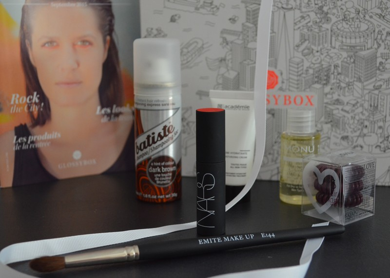 Glossybox Rock the City, glossybox septembre 2015, Glossybox review, , avis glossybox,
