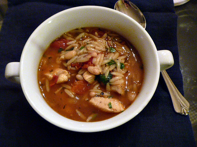 11 Healthy Soups: Italian Chicken and Bean Soup - Slice of Southern