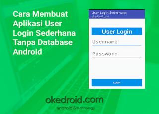 Aplikasi Login Android No Database
