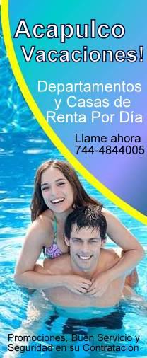 Renta_En_Acapuclo, Casas y departamentos amueblados, renta por día, para vacaciones. en Acapulco
