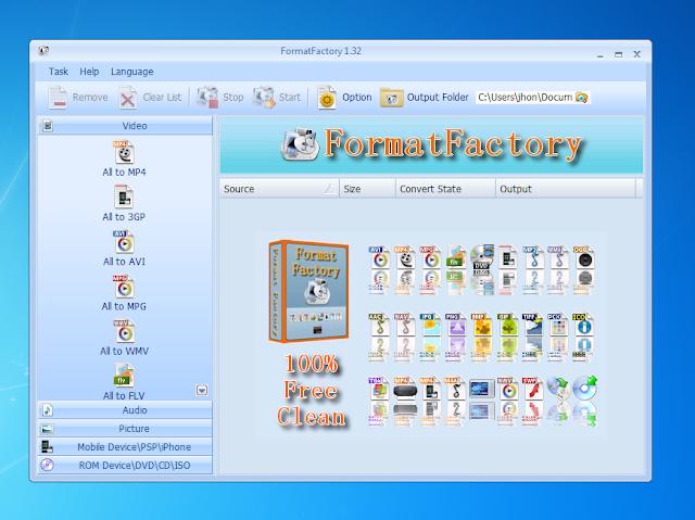 Formatfactory Pada Awalnya Saya Eliminasi Dari Kandidat Converter Paling Ringan Mudah Dan Murah Kelas Low End Karena Update Terbaru Formatfactory