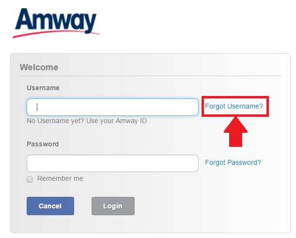 Forgot Username And Password