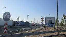 Coloană de maşini de trei kilometri, pe podul Vidin-Calafat