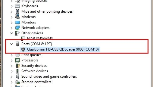 free download driver qualcomm hs usb qdloader 9008