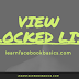 How To View Your Blocked List - Facebook Security Tips