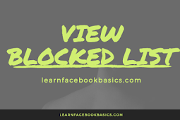 How To View Your Blocked List | See Facebook block list - Facebook Security