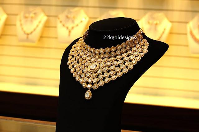 Joyalukkas Bridal Polki Diamond Necklace