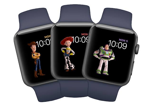 Buzz, Woody & Jessie Apple Watch Faces