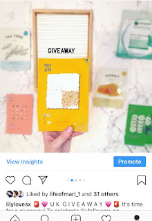INSTAGRAM SKINCARE GIVEAWAY