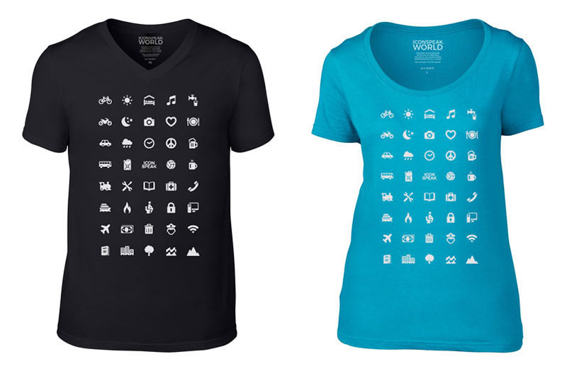 d7b7b5810a2d1f IconSpeak T-Shirt Helps You Communicate While Traveling Abroad