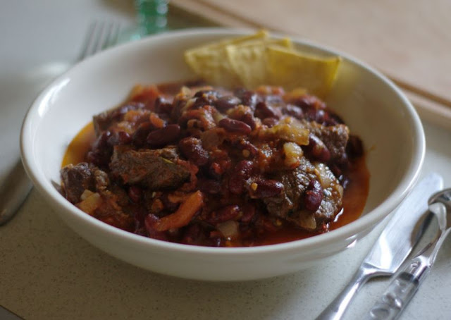 chili con carne au boeuf, light, sans gluten