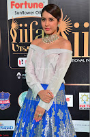 Raashi Khanna in Off Shoulder Top and Blue Skirt Cuteness Overloaded at IIFA Utsavam Awards 2017  HD Exclusive Pics 01.JPG