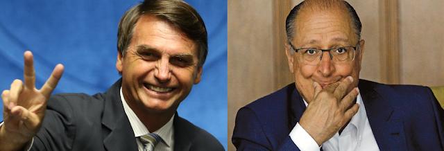 Eleições 2018: Bolsonaro na frente de Alckmin em São Paulo