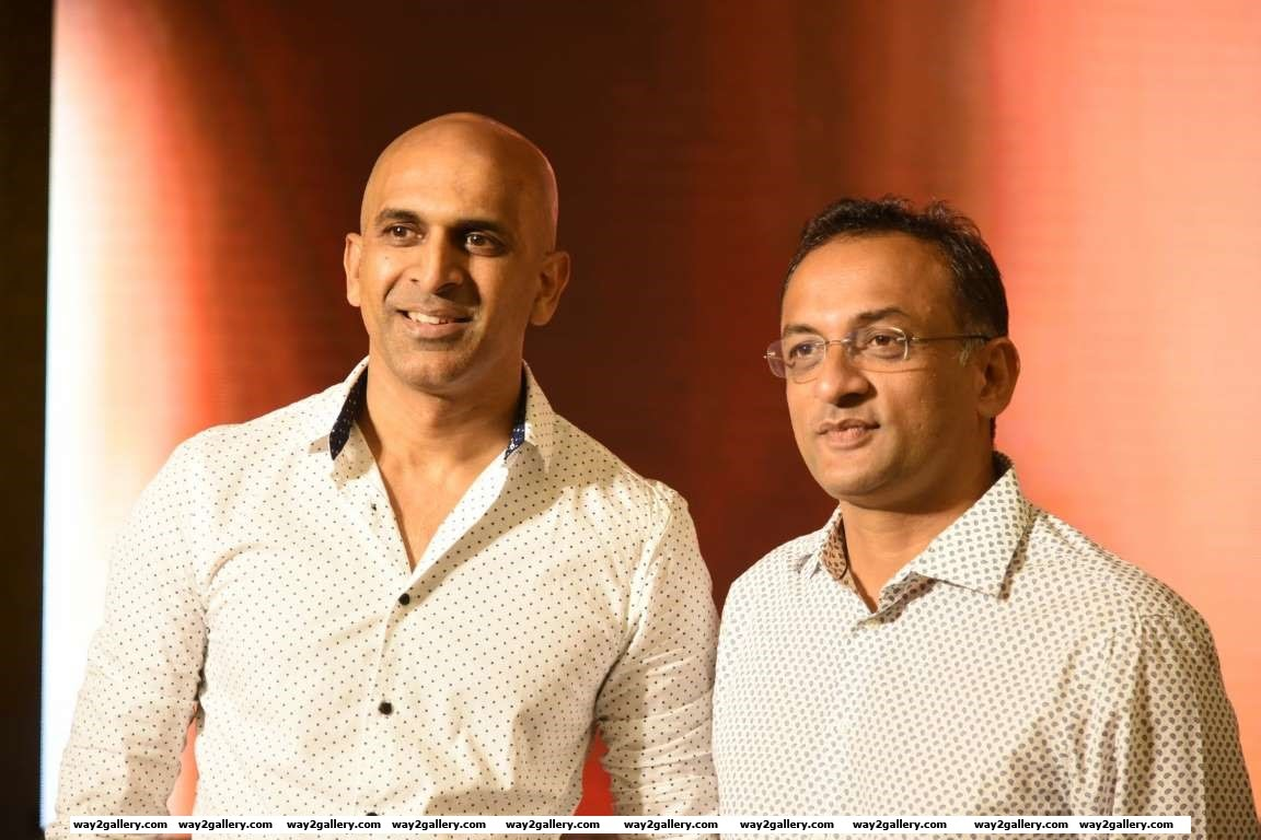 Our shutterbug caught Baahubali  producers Prasad Devineni and Shobu Yarlagadda at the press meet