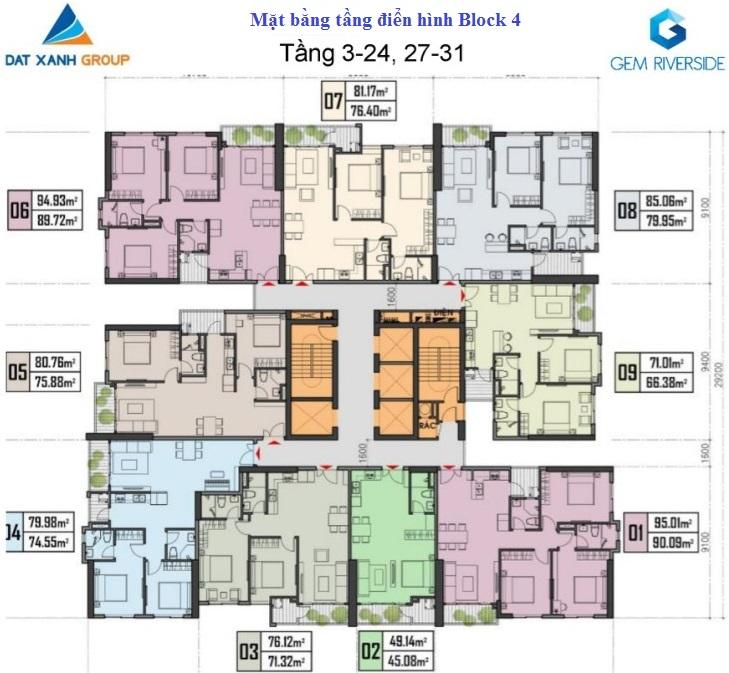 mặt bằng tầng 3-24 block 4