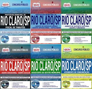 Apostilas para concurso Prefeitura de Rio Claro 2018