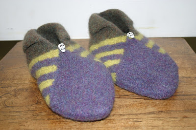 Hand Knit & Felted Slippers by Minaz Jantz