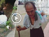 Kisah Pilu Kakek Sebatang Kara Yang Hidup di Jalanan, Ia Tak Punya Rumah, Mandi Pun di Selokan