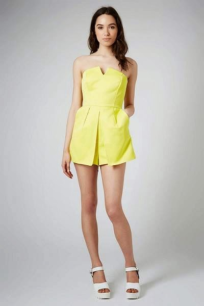 Topshop's yellow skort playsuit.