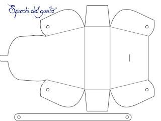 template scatolina borsetta