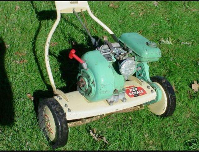 Just A Car Guy Vintage Lawn Mowers