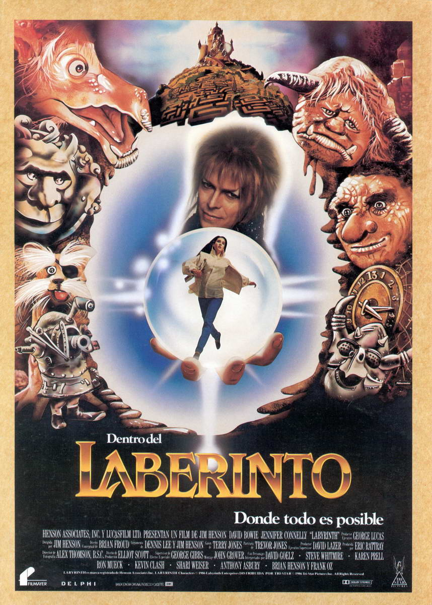 The Geeky Nerfherder: Movie Poster Art: Labyrinth (1986) Labyrinth 1986 Poster