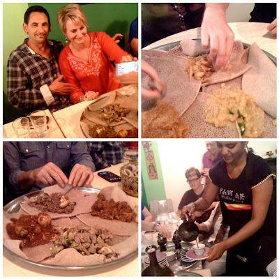 Slow Food Dinner at Cafe Abyssinia, some images