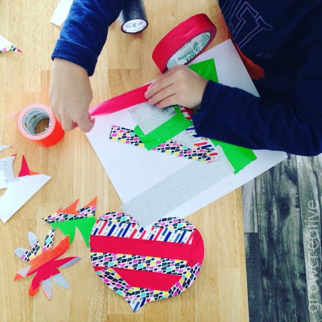 Cool Tape Art Project for Kids: Grow Creative Blog