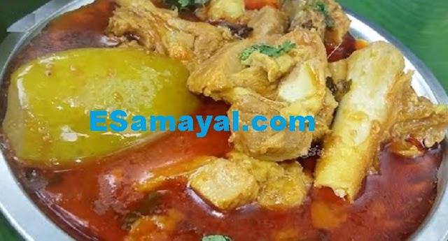 மாங்காய் மட்டன் செய்முறை / Mango Mutton recipe !