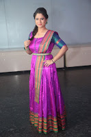 Shilpa Chakravarthy in Purple tight Ethnic Dress ~  Exclusive Celebrities Galleries 060.JPG