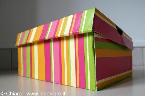 Estremamente Ideekiare: Ricoprire una scatola da scarpe (con coperchio  OV31