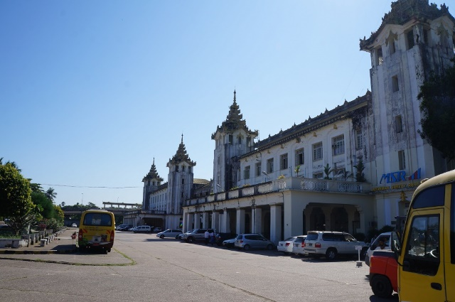 Yangon Myanmar train station
