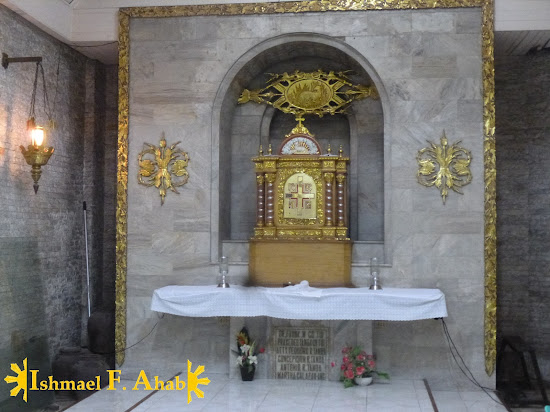 Tabernacle of Our Lady of the Most Holy Rosary, Queen of Caracol Church in Rosario, Cavite